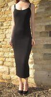 Midi Maxi Length Women Strappy Dress Summer Beach Black Size 8 10 12 14 16 18 20