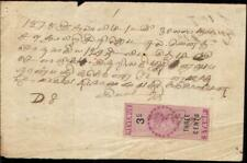 Straits Settlements document Malaya Singapore receipt revenue 1878 fiscal