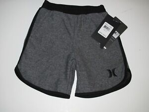 Hurley Toddler Boy's 4T Anthracite Gray Black Shorts Nike Dri-Fit Fabric