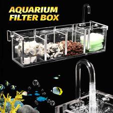 2-6 Grids Acrylic Aquarium Fish Tank External Hang On Filter Box Without Pump