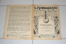 Spartito IL MANDOLINISTA 1909 O dolce voluttà Ruy Blas mandolino chitarra