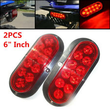 "2PCS 6"" 2-wire Red Light LED Rear Brake Side Clearance Lamp Universal for Cars"