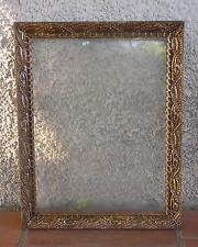 CADRE BOIS MOULURE DE PÂTE AVEC VERRE ANCIEN 46,2 x 36 cm.