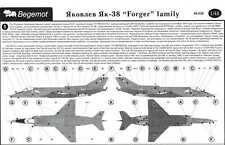 Begemot Decals 1/48 YAKOVLEV YAK-38 FORGER Family