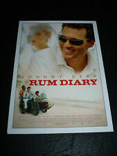 THE RUM DIARY, film card [Johnny Depp, Aaron Eckhart, Amber Heard]