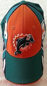 Miami Dolphins NFL Sideline Reebok On Field Cap & Men's L Aqua T-Shirt Lot of 2