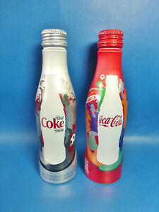 New Coca-Cola + Diet Aluminum Bottles - Fifa Womens World Cup 2015 Canada