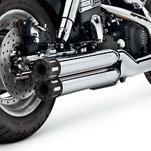 Harley Davidson Shorty Dual Chrome Mufflers