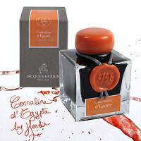 """J. Herbin """"1798"""" Anniversary Fountain Pen Ink - Cornaline d'Egypte - 50ml Bottle"""
