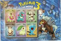 Liberia 2001 - Pokemon 3 The Movie, Spell of Unknown - Sheet of 6 Stamps - MNH
