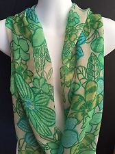 Infinity Scarf by DOLLY BIRDS Green Tones made in Tasmania, Australia.
