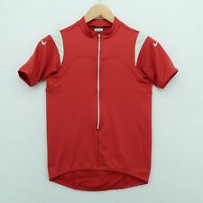 New listing Nike Cycling Shirt Mens Size Small Red 3/4 Zip Close Sphere Dry Dri Fit Bicycle