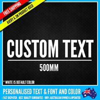 CUSTOM Name Personalised Text Sticker Decal Choose Your Own (500mm Long) Vinyl