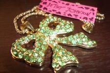 Betsey Johnson shining crystal BOWKNOT pendant necklace, alloy,27inch,Fashon