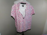 Adidas Size L Large Clima Cool Print Collared Short Sleeve Golf Shirt Top