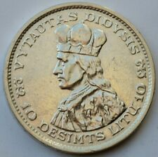 10 LITU 1936 Vytautas Didysis SILVER Coin Lithuania Lietuva