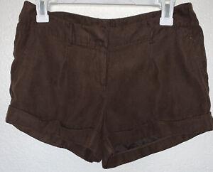 Women's Love Culture Mini Brown Shorts Sz Med.