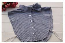 Detachable Women Cotton Lapel Shirt Fake False Collar Choker Necklace #EAF068