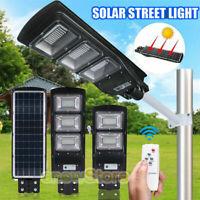 Solar LED Street Light Flood Outdoor Pole Mount Lamp Area Lighting Yard Garden