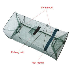 1 pcs Crawfish Trap Portable Fishing Net Retractable Fish Shrimp Mesh Cage