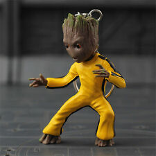Guardians of The Galaxy Baby Groot Body Knocker on Stereo Toy Gift Keychains Press Button