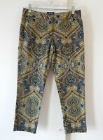 womens multi color TOMMY HILFIGER pants slim skinny floral cotton stretch S 6