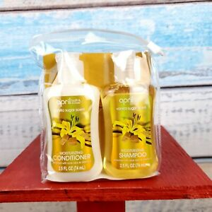 April Bath Shower Vanilla Sugar Scent Travel Set Shampoo Conditioner USA Seller