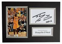 Shaquille O'Neal Signed Autograph A4 photo display Basketball AFTAL COA