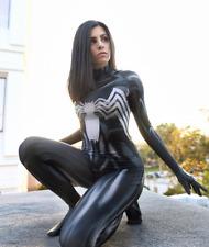Déguisement VENOM femme combinaison spandex cosplay comics Spiderman