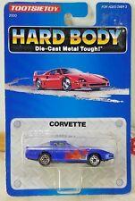 TootsieToy Hard Body 1992 die cast metal Corvette Blue w Flames 1:64 scale NEW