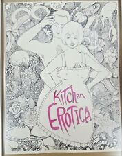 Kitchen Erotica Vintage Sketch Original Art Drawing