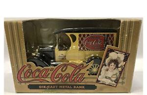 Ertl Coca Cola Diecast 1923 Yellow Delivery Van Metal Bank 1993 Old Fashioned