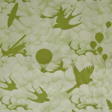 RPG409 Tula Pink Sparrows Airplanes Clouds Birds Balloons Cotton Quilt Fabric