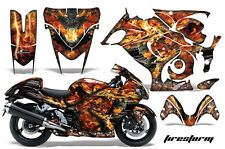 Graphic Kit Suzuki GSXR Amr Racing 1300 Hayabusa GSX Part Bike Decal Wrap FIRE