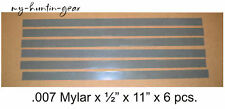 Mylar Reeds for Duck Goose Turkey Deer Calls .007 x 1/2 Reed strips cut your own