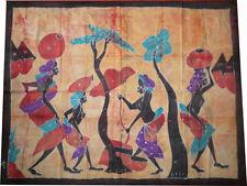Batik géant africain de Cote d'Ivoire villageois