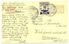 NED INDIE DUTCH INDIES 1928-11-5  BK  EF #LP4   NAAR NIJMEGEN     VF