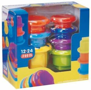 Mini Cups Stacking Stackable Kids Baby Toy Sequencing Game 1+Yrs Miniland ~ BNIB