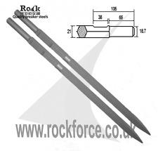 Set of 2 breaker steels for KANGO K900 / 950 - 2 x Points Extra Long 600mm