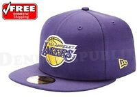 New Era 59FIFTY LA Los Angeles Lakers Hat NBA Hardwood Classic Cap Purple