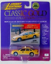 JOHNNY LIGHTNING R6 CLASSIC GOLD 1997 CHEVY CAPRICE TAXI YELLOW CAB EXCLUSIVE