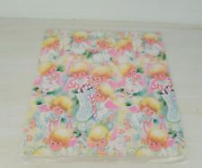 Vintage Norcross Sheet Gift Wrapping Paper Angels Stockings Candy Canes Holiday 00004000