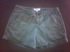 Ladies Khaki Green JUST JEANS Shorts Size 8 Cotton
