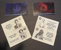 1997 Star Wars Monopoly Classic Trilogy Edition Parts: Rebel & Imperial Cards