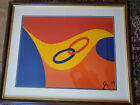 """Framed Alexander Calder """"Friendship"""" Braniff Limited Ed. Lithograph with COA"""