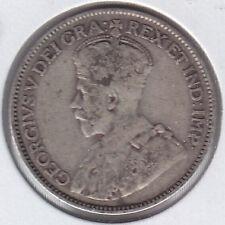 1921 Canada Twenty Five Cent Silver Coin - Fine+