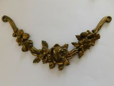 Antique French Bronze Foral Pediment, Salvage Furniture Mount 3 Available
