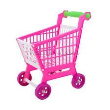 Kinder Einkaufswagen Einkaufskorb Kaufladen Wagen Spielzeug Trolley Rosa