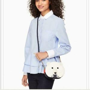 NWT Kate Spade Polar Bear Crossbody Cold Comforts Handbag Leather WKRU4117 NEW