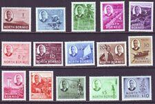 North Borneo 1950 SC 244-259 MNH Set